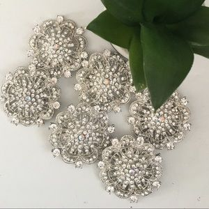 Brooches bouquet silver crystal rhinestone